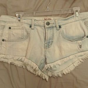 Mudd white distressed Jean shorts